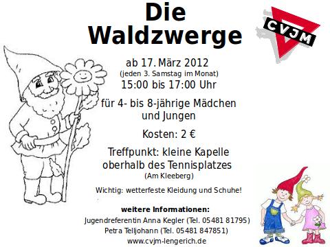 Plakat für die Waldzwerge