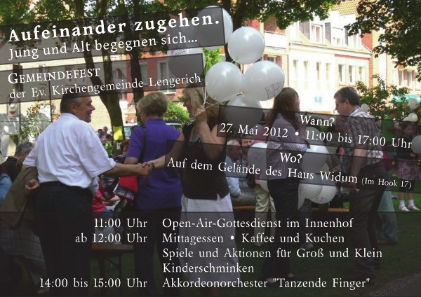 Plakat für das Gemeindefest2012