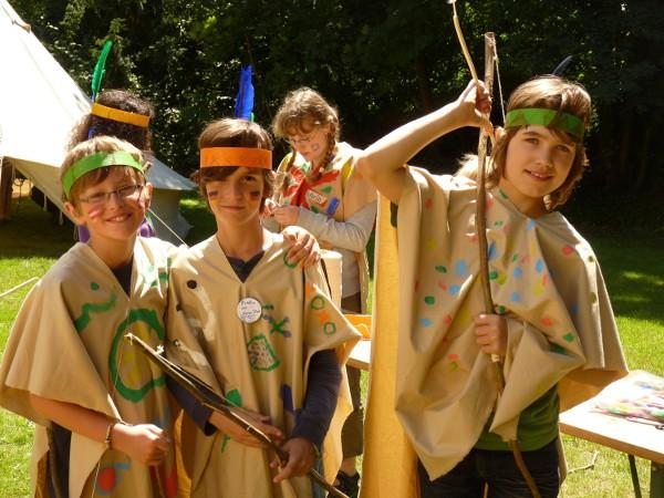 """Foto vom Ferienprojekt """"Indianer"""" im Sommer2012"""