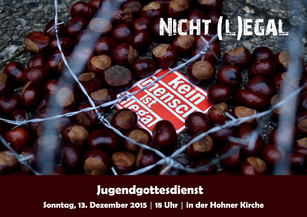 """Flyer für den Jugendgottesdienst """"Nicht (L)Egal"""" im Dezember2015"""