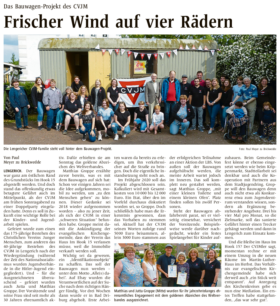Zeitungsartikel aus den Westfälischen Nachrichten vom 12.Juni2019